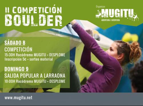 [Crónica] II Competición Boulder ( Rocódromo Mugitu +Desplome)