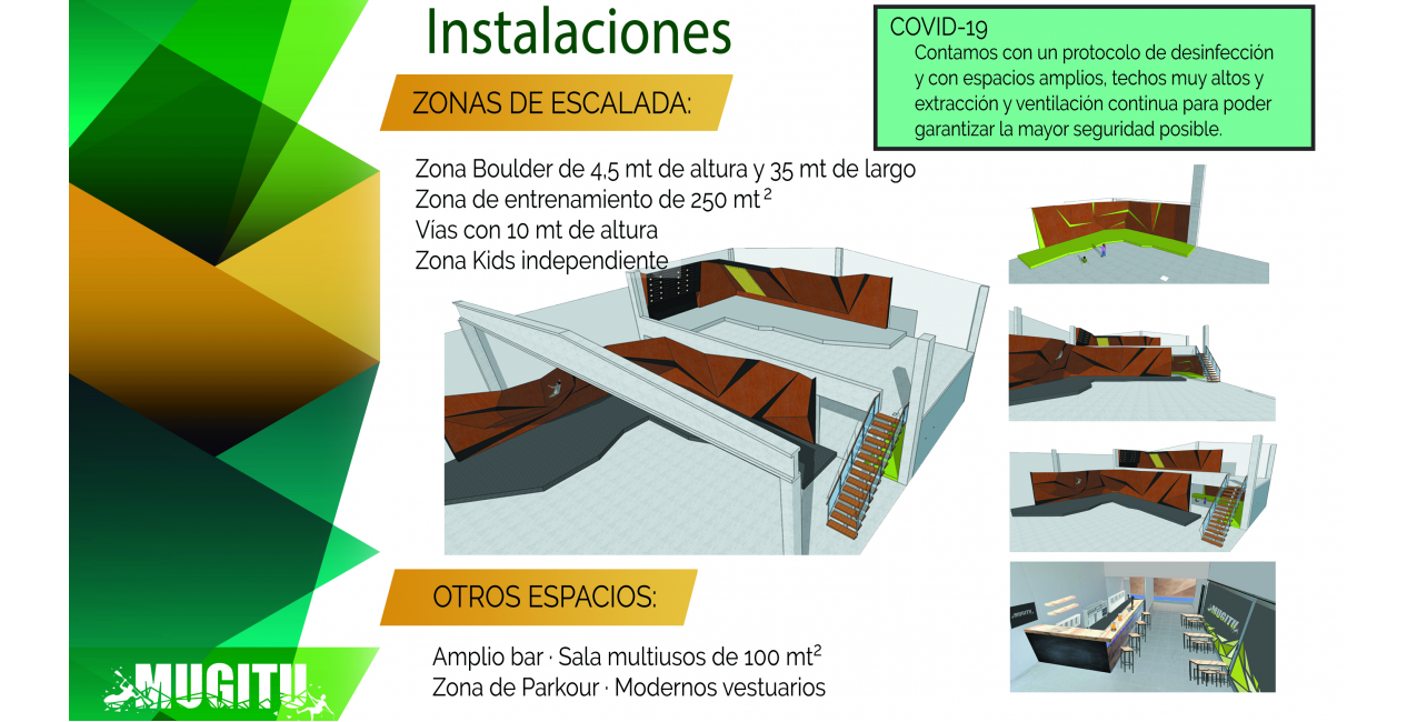 Nuevo rocódromo en Lizarra. CON LA SUBVENCION DEL GOBIERNO DE NAVARRA